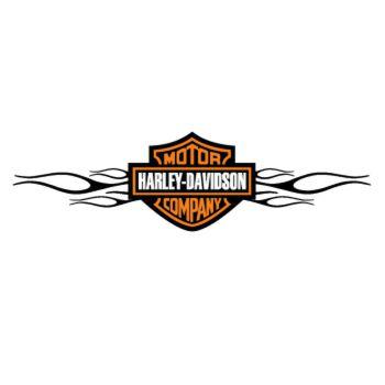 Harley Davidson Flaming Decal #2