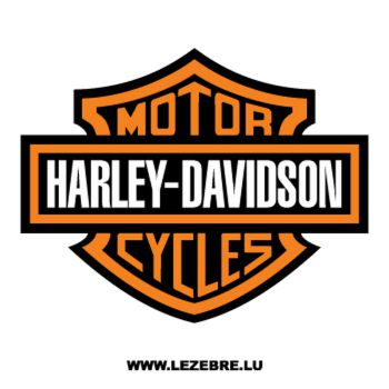 Harley Davidson Moto Cycles Decal