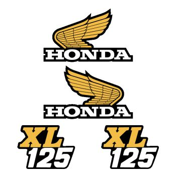 Honda XL 125 Decals Set