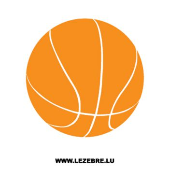 Sticker Camping Car Ballon Basketball