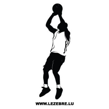Basketball Player Decal 2