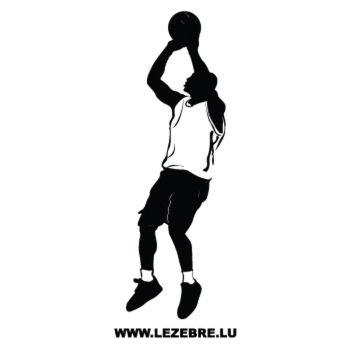 Sticker Camping CarJoueur Basketball 2