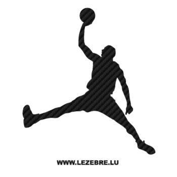 Sticker Camping Car carbone Jouer Basketball 8 handball