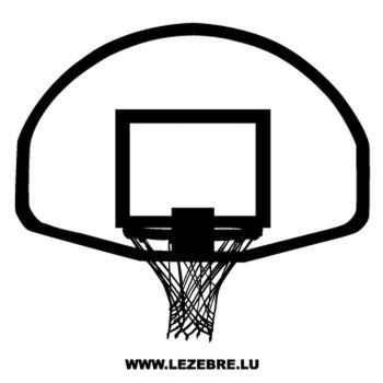 Basketball Basket Decal 2