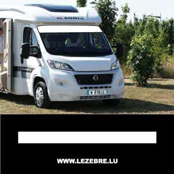 Bande Pare-soleil Camping car (Taille à personnaliser)