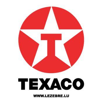 Texaco Logo Decal 2