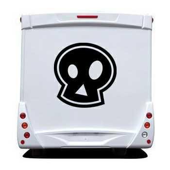 Stencil Camping Car Tête de Mort Emo