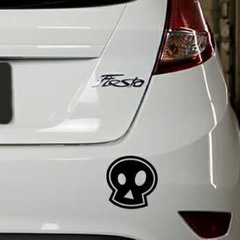 Pochoir Ford Fiesta Tête de Mort Emo