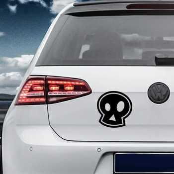 Pochoir VW Golf Tête de Mort Emo