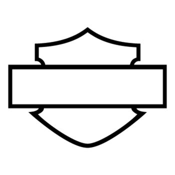 Stencil Harley Davidson Logo Silhouette II