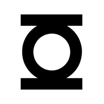 Stencil Green Lantern Logo