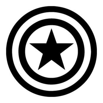 Stencil Captain America Logo