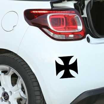 Pochoir Citroën Croix de Malte
