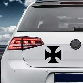 Stencil VW Golf Maltese Cross