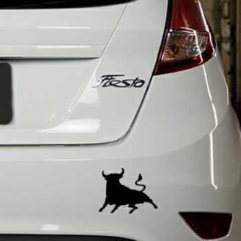 Pochoir Ford Fiesta El Toro Taureau Espagne