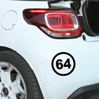 Stencil Circle 64 Citroën DS3 Department French Pyrénées-Atlantiques