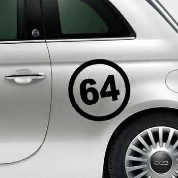 Pochoir Fiat 500 Cercle 64 du Département Français Pyrénées-Atlantiques