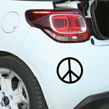Pochoir Citroën Peace & Love Logo