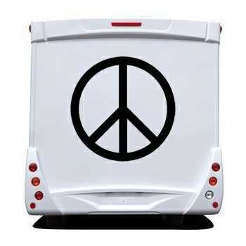Pochoir Camping Car Peace & Love Logo