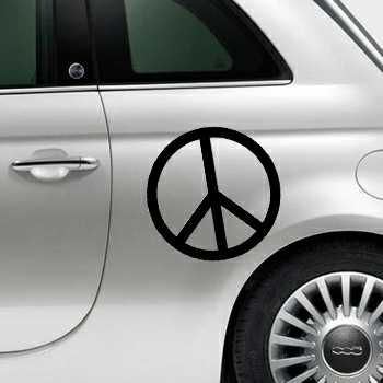Pochoir Fiat 500 Peace & Love Logo