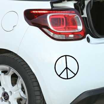Pochoir Citroën Peace & Love Logo III
