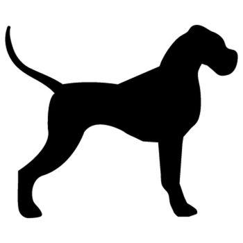 Stencil Silhouette Dog
