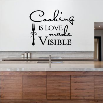 "Decal ""Cooking is love made visible"""