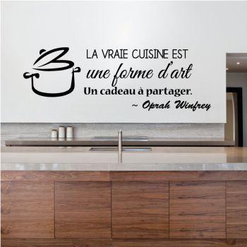 Sticker Cuisine Forme d'Art