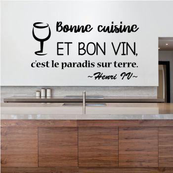 Aufkleber Bonne Cuisine et Bon Vin