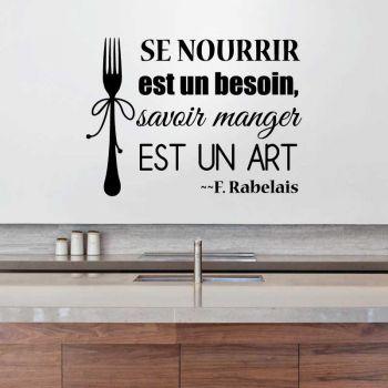 """Decal """"Savoir manger est un art"""""""