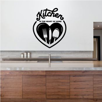 "Decal ""Kitchen is the heart of home"""