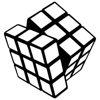 Sticker déco Rubik's Cube