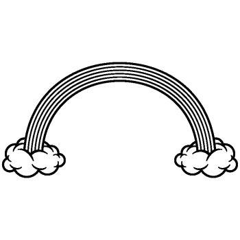 Sticker déco Arc en ciel