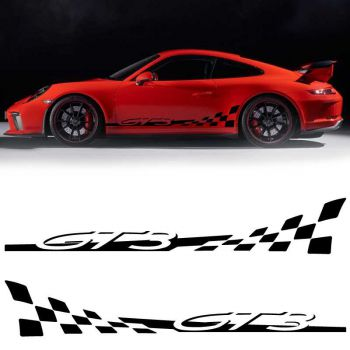 Aufkleber Kit Stickers Bandes Bas de Caisse Voiture Porsche 911 GT3