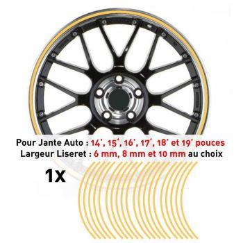 Decal Car Wheel Rim Beige