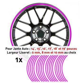 Decal Car Wheel Rim Fuchsia