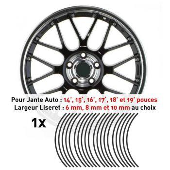 Decal Car Wheel Rim Dark grey