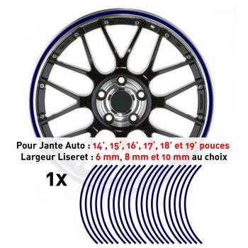 Decal Car Wheel Rim Navy