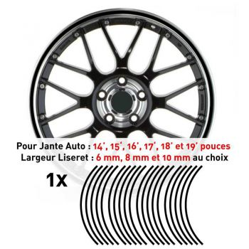 Decal Car Wheel Rim Black