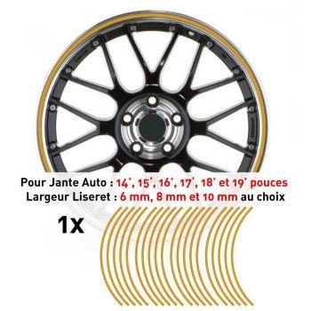 Decal Car Wheel Rim Gold