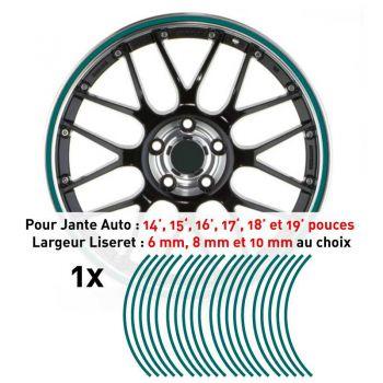 Decal Car Wheel Rim Turquoise