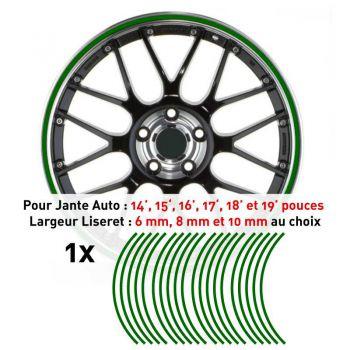 Decal Car Wheel Rim Green