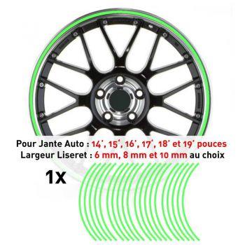 Decal Car Wheel Rim Lime green