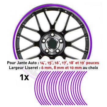Decal Car Wheel Rim Purple