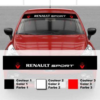 Renault Sport Tricolor Car Sunstrip Decal