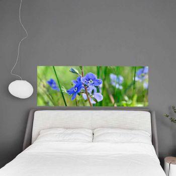 Decal Tête de Lit Fleurs Bleues