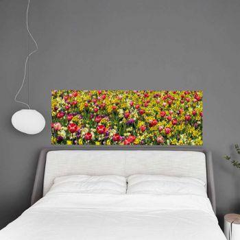 Sticker Tête de Lit Jardin Fleurs Tulipes