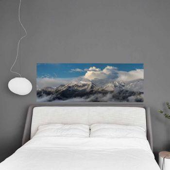 Sticker Tête de Lit Montagne Neige