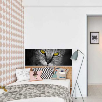 Headboard Decal Cat