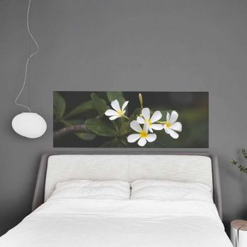 Headboard Decal White flower